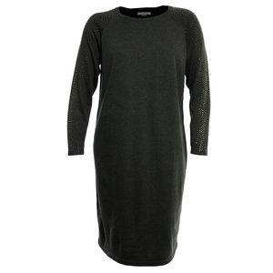 Gray Long Studded Sleeve Sweater Dress